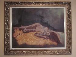 Bubelényi András nagy akt festménye