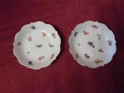 Hüttl Tivadar pecsétes porcelán kistányér