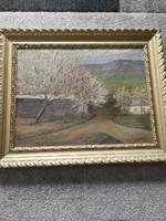 Kárpáthy Rezső: Tájkép festménye 1900 as évek eleje