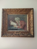 Olvasó főúr,vízfestmény,a festő:Rubovics Márk,38X40cm