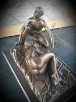 Erotikus jelenet 3 - bronz szobor (levehető férfi figura)