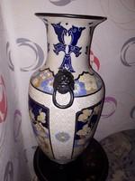 54,5 cm Antik  Oroszlánfejes kínai Váza