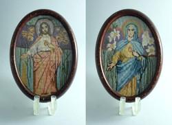 Jézus és Szűz Mária - Szecessziós tűgobelin pár