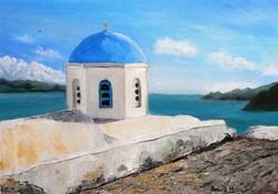 Görög partok - olajfestmény