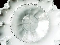 Régi metszett üveg tálka