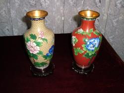 Antik – cloisonne – rekeszzománc technikával készült vázák
