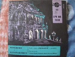 Trubadur című operájából bakelit lemez