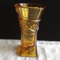 Régi talpas üveg váza