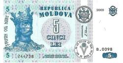 Moldova 5 Lei 2009 UNC