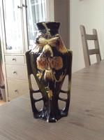 Antik szecessziós kerámia váza, sérült
