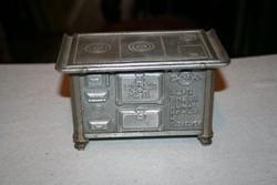 Mini Sparhelt emléktárgy a Buapest-Salgótarjáni gépgyár és vasöntö R.T. - ből