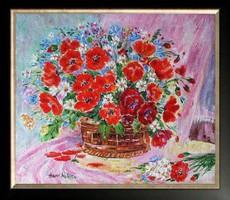 Hepp Natália: Virágok kosárban