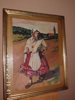 Akvarell,ismeretlen szignóval 1945 40x49 cm