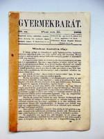 1862 október 16  /  Gyermekbarát  /  RÉGI ÚJSÁG Ssz.: 529