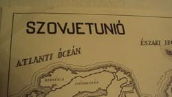 TÉRKÉPGYŰJTŐK ! Régi, (1949) kézi grafikai térkép nyomata papírra,SZOVJETUNIÓRÓL.
