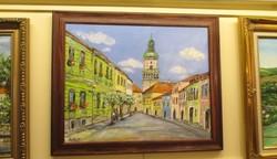 Sopron utcarészlet festmény akciós ár