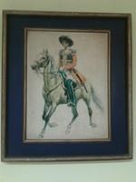 Kozák lovas katona az 1800-as években, falikép