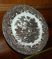 Angol barna Country Style staffordshire tányér