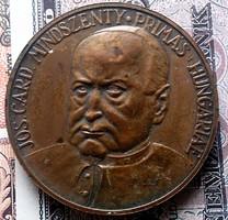 MINDSZENTHY bronz emlékplakett