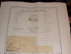 Kelet Ázsia térkép. 1877-1880...