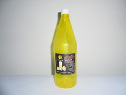 Retro OLYMPOS natur citromlé üdítő - papír címke, műanyag palack - 1982-es - 1 literes