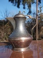 Vörösréz kávéskanna-kiöntő  szétcsavarható test-szép forma