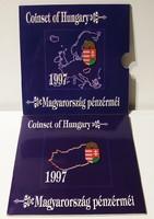 1997-es Dísztokos forgalmi sor PP - Ritka - ezüst - 200 Forintos érmével