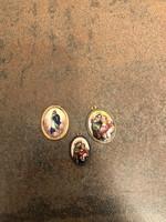 3 db antik tűzománcos Mária medál csomag