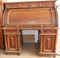 Hatalmas antik íróasztal, írókomód,szekreter komplett iroda!