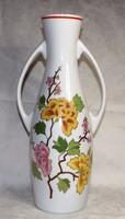 Hollóházi nagyméretű kétfüles váza 36 cm