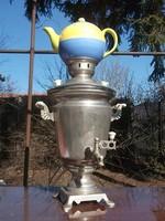 Szamovár teáskannával hideg napokban teázáshoz-ajándékba is