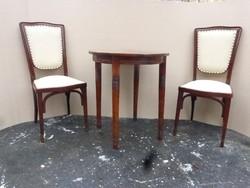 2 db KOHN szék+Thonet asztal.