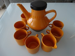 Retro narancssárga kávéskészlet, Melitta márka a 70-es évekből