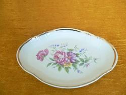 Porcelán hollóházi tál