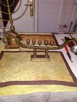 Antik bronz judaika  menora 1945bol