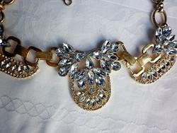 Retró aranyszínű ragyogó nyaklánc