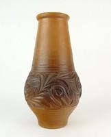 0P989 Barna korondi kerámia váza díszváza 31 cm