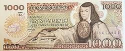 Mexico 1000 peso 1985 UNC