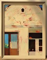 Végh András ( 1940-) Két ablak c. Képcsarnokos olajfestménye Eredeti Garanciával!!