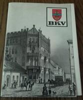 150 év  közlekedési eszközei  képeslapon, 15 db fekete- fehér fotó tartóban - A BKV kiadványa