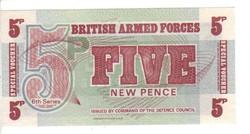 5 pence Anglia Katonai UNC