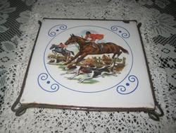 Díszcsempe   asztali alátétként   fém kerettel  STEURER   155x155 mm