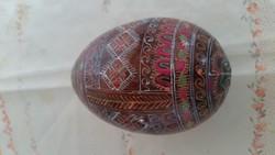 Retro népi motívumokkal díszített fa tojás eladó!