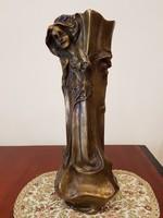 Régi nagyméretű szecessziós bronz váza