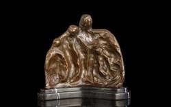 Absztrakt - art deco bronz szobor
