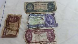 Magyar papír 20 forintos,rongyos 100,-500 forintos eladó!