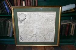 Magyarország térképe 1751-ből (francia nyelvű)