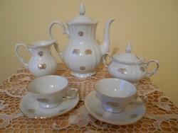Roschütz porcelán kávés készlet
