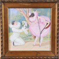Bernáth Ilma (1891-1961): Commedia dell'Arte figurák