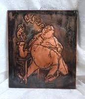 Réz falikép